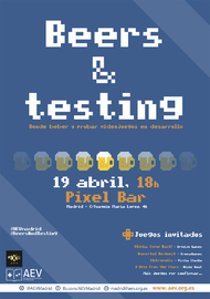 Cartel_Beers_and_testing_AEVmadrid_Abril_Mireia Mullor