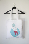 TURQUOISE - bolsa de tela ilustrada - Impetu - Mireia Mullor